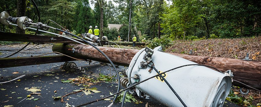 Power Lines Downed by Natural Disasters Present an Electrical Hazard