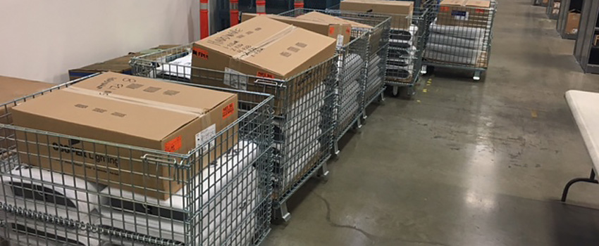 Job carts save time because employees don't have to waste time searching, waiting, tracking or securing material.