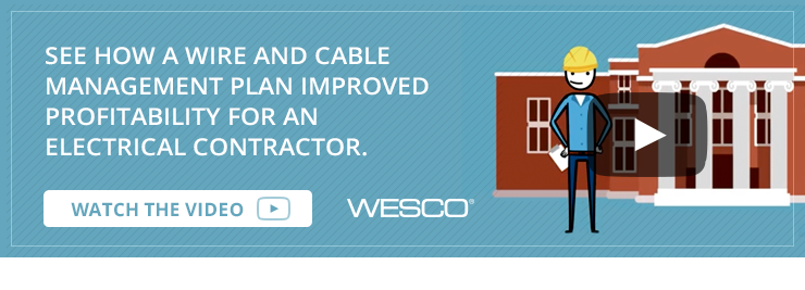 See how a wire and cable management plan improved profitability for an electrical contractor.