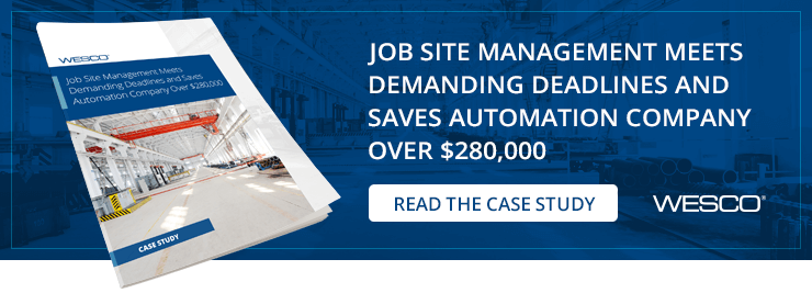Job Site Management Meets Demanding Deadlines and Saves Automation Company Over $280,000
