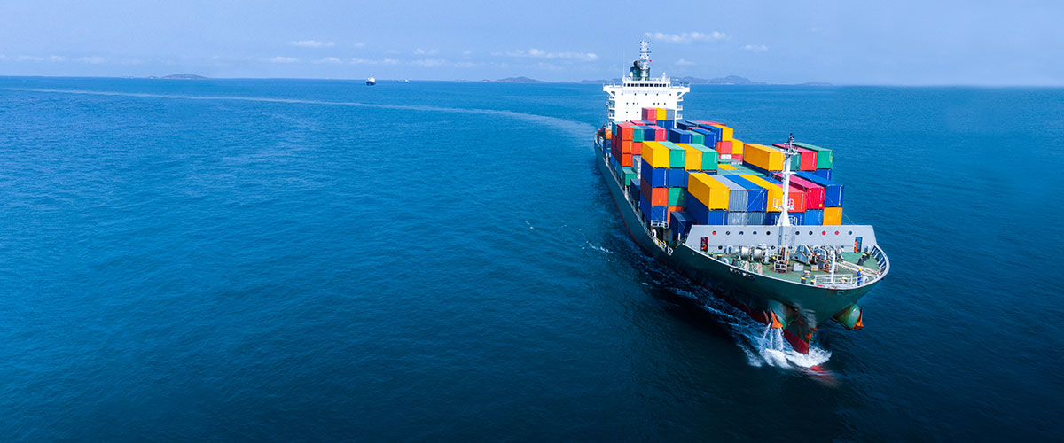Ship carrying freight
